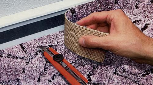 Lepení koberec